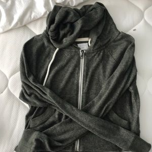 Army green zip up